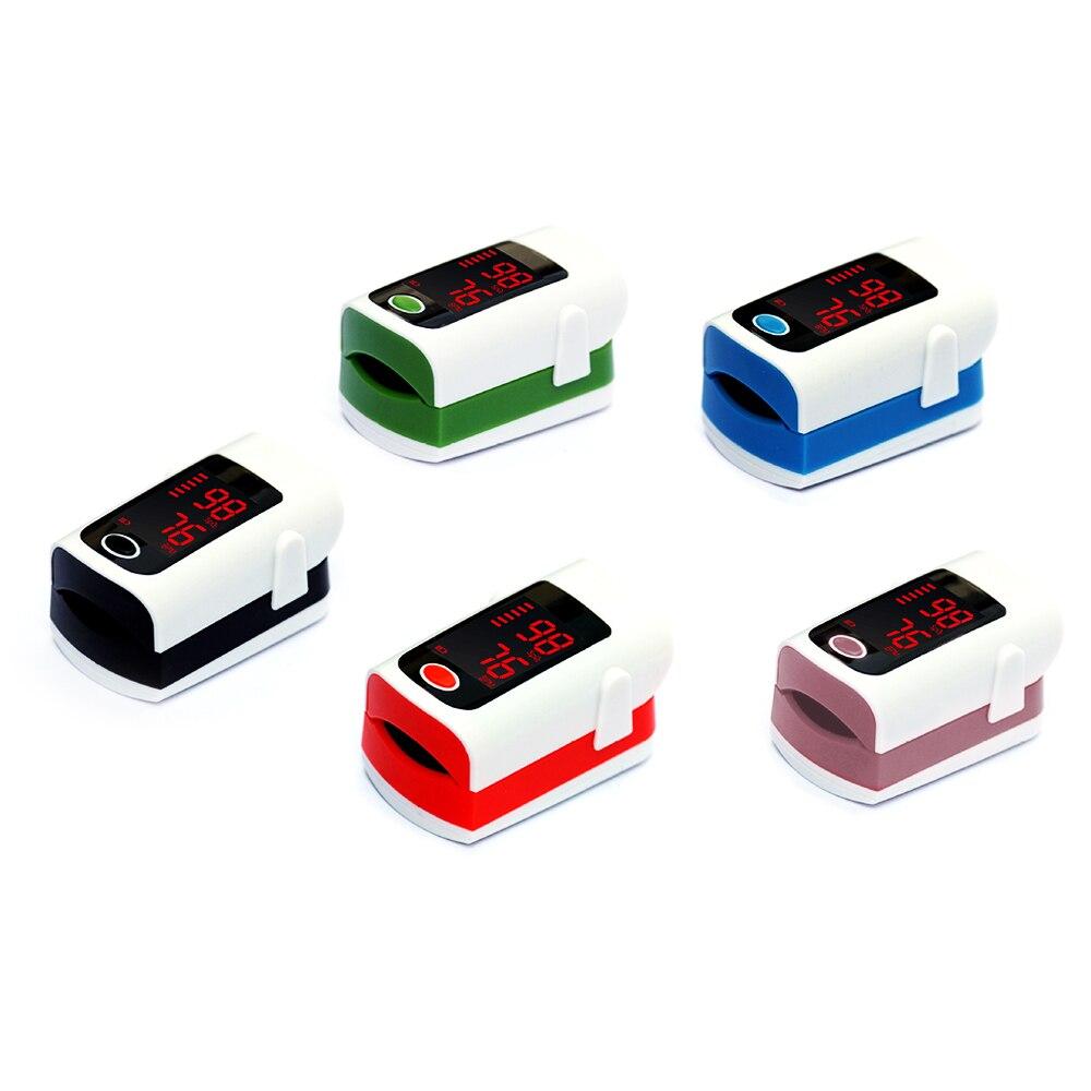 10 Pcs/Lot Portable oxymètre de doigt moniteur de coeur équipement médical appareil de LED pour mesurer le rythme cardiaque Saturometro
