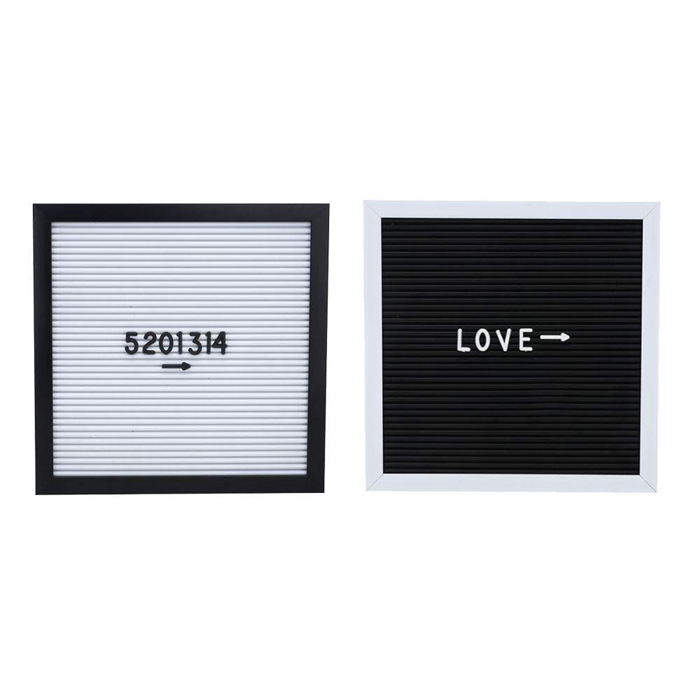 Bulletin Board Message Board Creative 25*25cm Black White Office Decor Desktop Sign Message 143 Letters Numbers Drop shipping ...