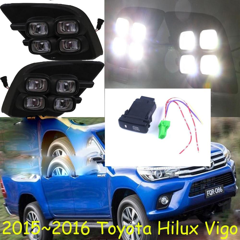 LED,2015~2018 Hilux VIGO day Light,VIGO fog light,VIGO headlight;vios,corolla,camry,Hiace,tundra,sienna,yaris L,VIGOTaillight 2x for toyota corolla avensis yaris rav4 auris hilux prius camry c hr ipsum 9005 9006 9003 h4 h11 h7 led headlight bulb 16000lm