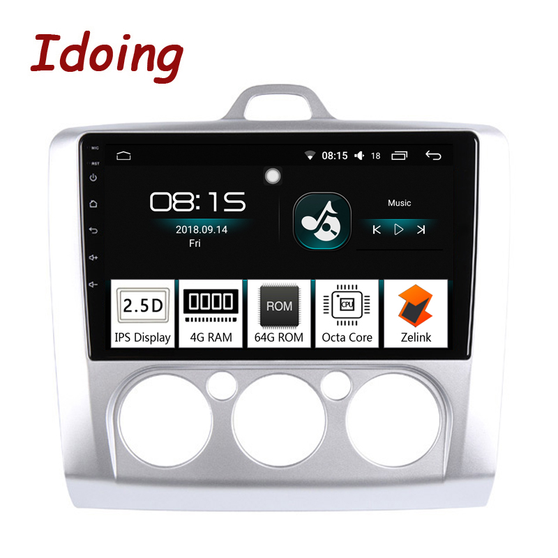 Idoing 94G+64G Octa Core Car radio Android 8.0 Multimedia Player Fit Ford Focus 2004-2012 IPS 2.5D Screen GPS Navigation PX5