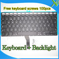 "Brand New SE Swedish Sweden keyboard+Backlight Backlit+100pcs keyboard screws For MacBook Air 13.3"" A1369 A1466 2010-2015 Years"