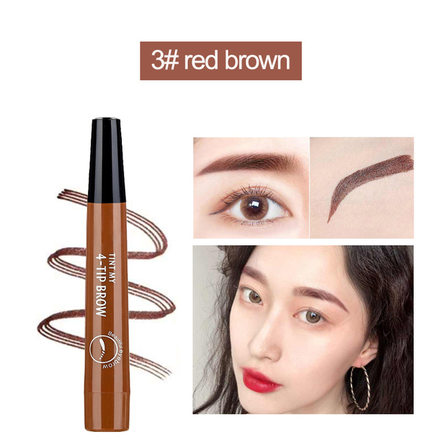 Microblading Eyebrow Pen Waterproof eyebrow shaping Eyebrow Tattoo Pencil henna eyebrow easy wear eye makeup Liquid Eye Brow Pen 4