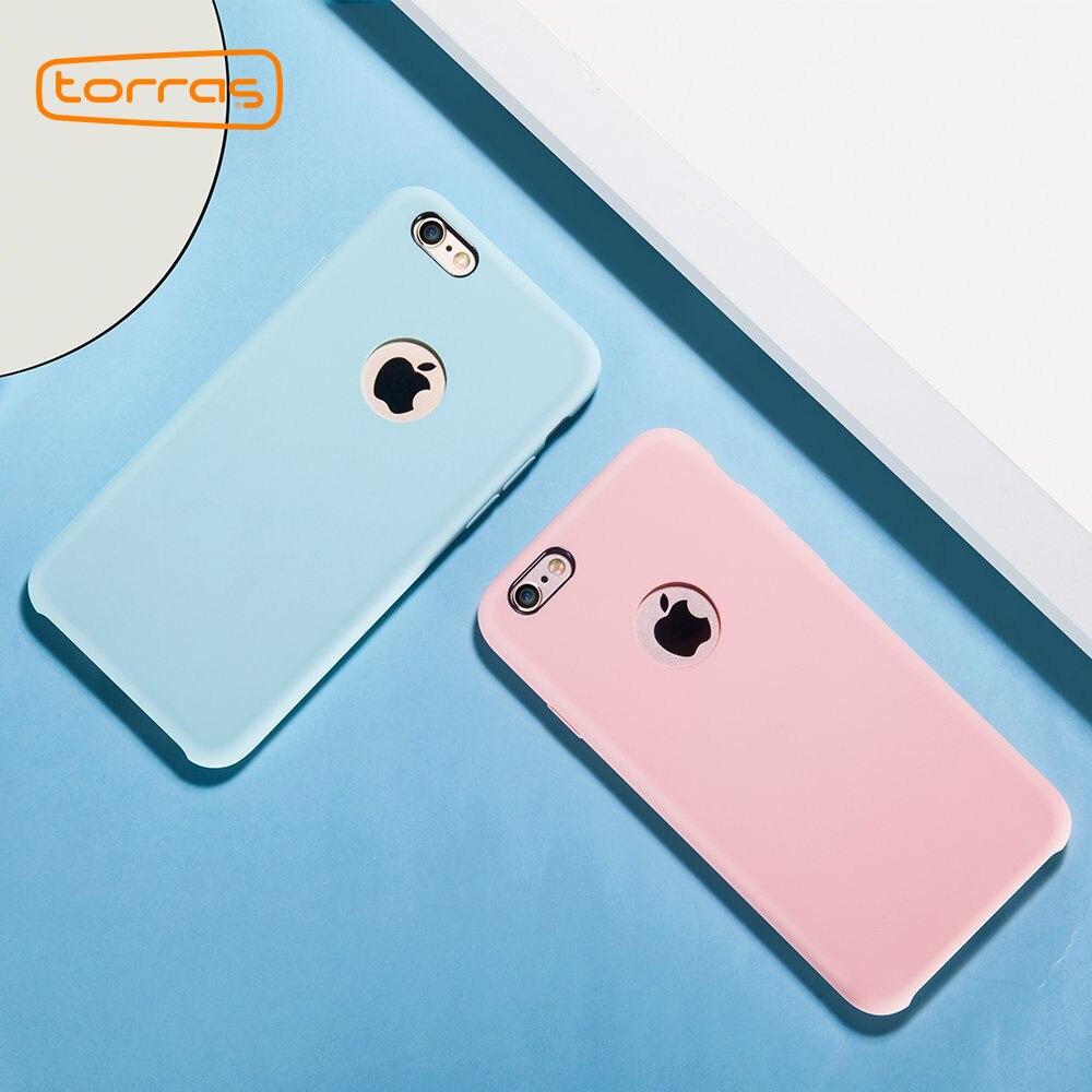 reputable site c7f33 42cd5 TORRAS Show Logo Silicone Case for iPhone 6 6s plus Phone Case Super  Protective Back Cover Phone Case for iPhone 6 6s Fundas
