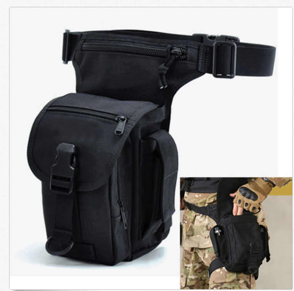 Men Nylon Waist Drop Leg Bag Fanny Pack Cross Body Messenger Shoulder Bags Military for Travel Motorcycle Riding Hiking Pack 2018 new men 1000d nylon waterproof military cross body shoulder messenger waist bag cross body pack