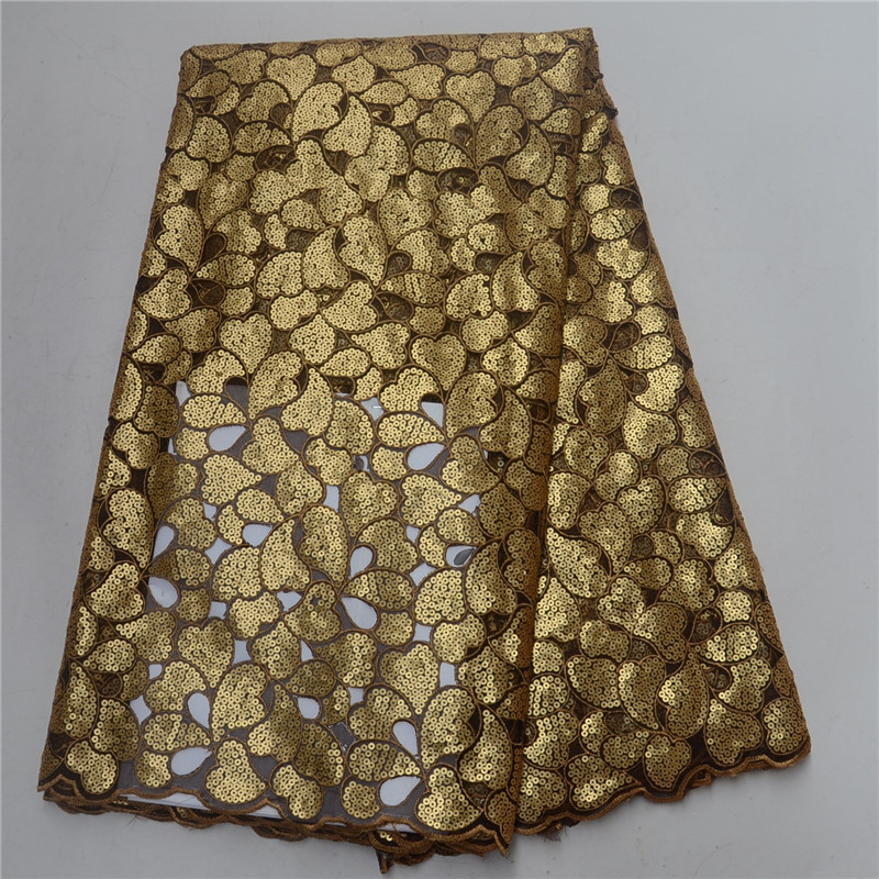 Gorgeous Golden African Organza Lace Fabric High Quality Nigerian Sequins Lace Fabric For Wedding Dresses Gorgeous Golden African Organza Lace Fabric High Quality Nigerian Sequins Lace Fabric For Wedding Dresses