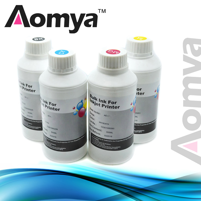 Aomya 4x500ml Digital Textile Ink for Epson R280 R290 R330 L800 L801 L805 L1800 1390 1400 1410 R1800 R1900/2000 F2000 DTG Ink