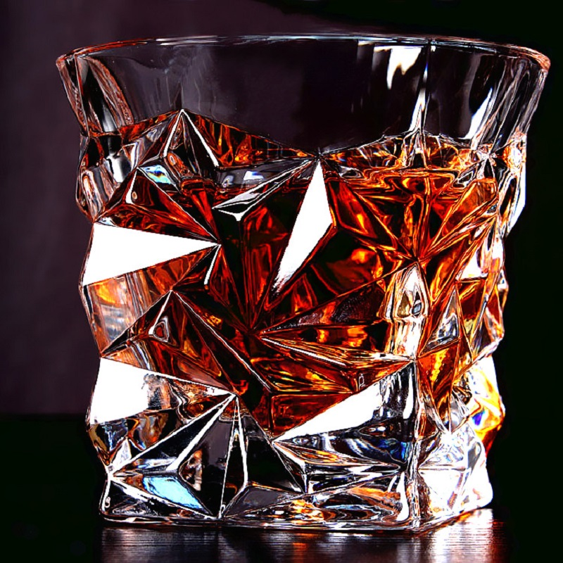 Drinkware 1pc Crystal Glass of Whisky Drink Cup Wine Brandy Beer Wine Glass cup Barware Water Cup Leisure