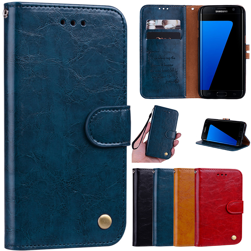 For samsung galaxy S9 plus S8 S7 S6 S5 S4 S3 Neo Leather Cover Phone Case SFor A8 2018 A3 A5 J1 J3 J5 J7 2016 2017 Coque fundas