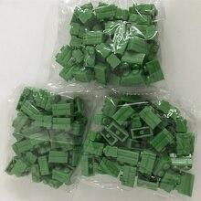 MOC DIY LegoINGG Wall Building Block Brick Basic Pieces 1x2 City House Green 50pcs Creativity Educational Plastic Part цена