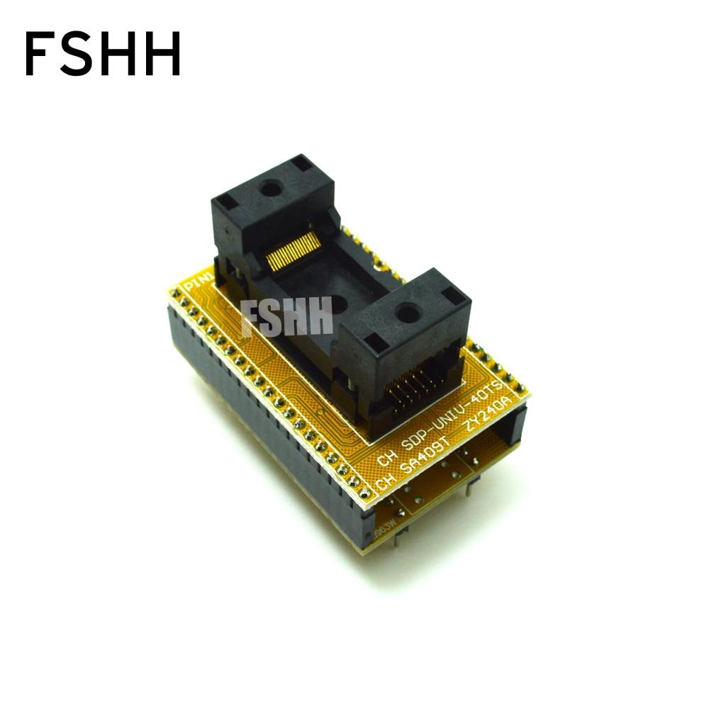 TSOP40 to DIP40 IC Test Socket SDP-UNIV-40TS/SA409T/ZY420 programmer adapter top flash ts40wt1 programmer adapter tsop40 ic test socket
