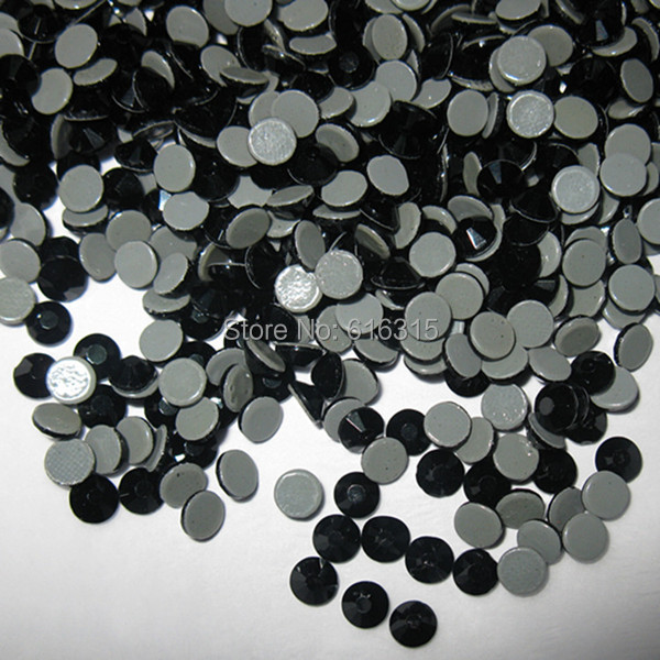 9eba0d1fea exquisite cutting technology of china austrian flat back hot fix diamond  stone ss16 jet black with 1440 pcs per pack free ship-in Rhinestones from  ...