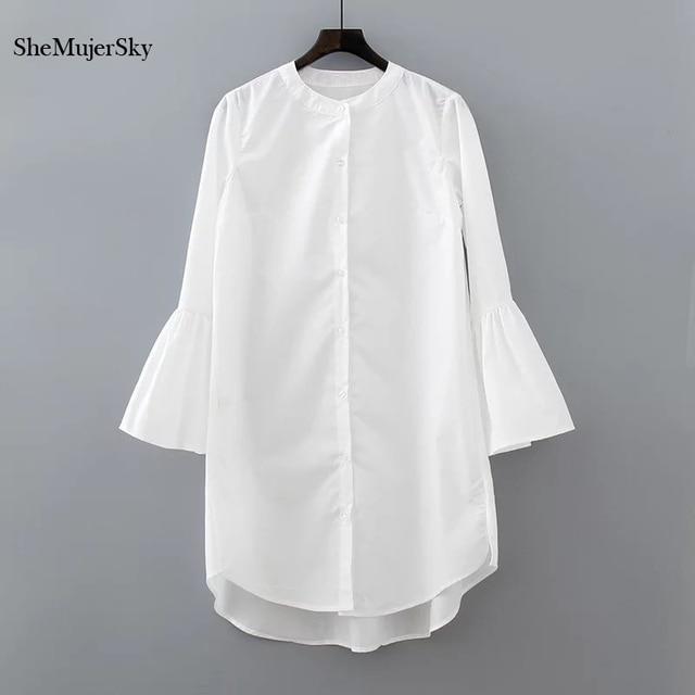 Aliexpress Com Buy Elegant Flare Sleeve Wedding Dress: Aliexpress.com : Buy White Shirt Dress Summer 2017 Fashion