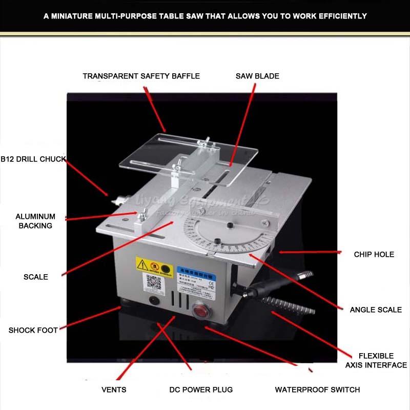 Miniature precision multi - function bench saw T6 small cutting machine Q10032