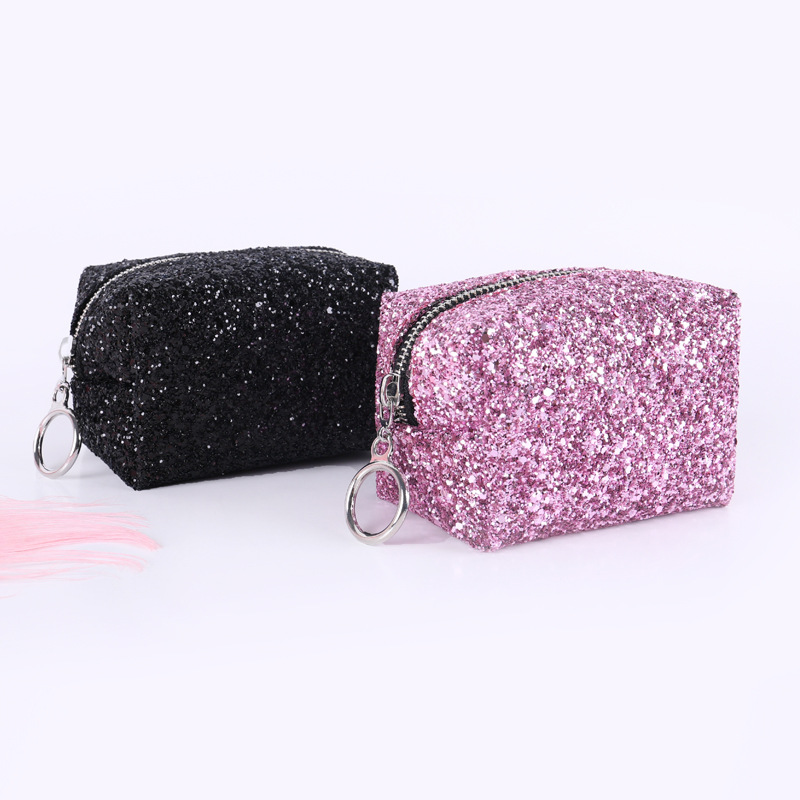 Fashion Dazzlling Women's Make Up Cosmetic Bag Beautician Sequins Clutch Leopard Party Bag Handbag Pouch For Women