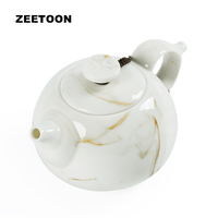 Zen Tea Teapot Chinese Ceramic Hand Painted Ink And Wash Porcelain Creative Vintage Kung Fu Tea