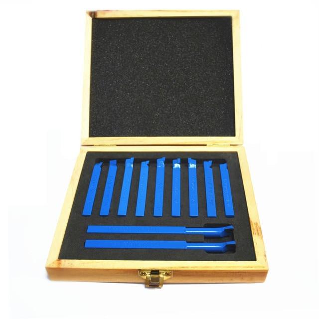 Free Shipping 11pcs/Set  8*8mm Carbide Tipped Tool Bit Sets Lathe Tool Turning Tool Kit  Z0141M Dadicated for Mini Machine