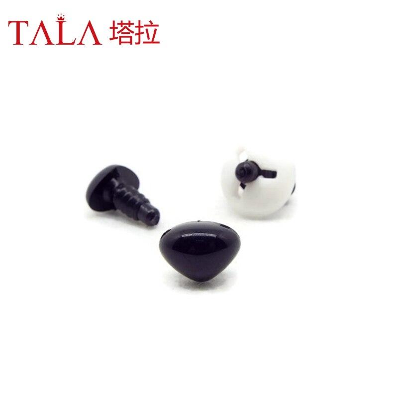 50pcs 4.5mm-26mm Hitam Plastik Keselamatan Hidung Untuk Mainan Datang - Boneka dan mainan lunak - Foto 2