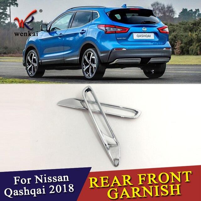 2 teile/los für Nissan Qashqai J11 2017 2018 ABS Chrom Hinten Reflektor Nebel Licht Lampe Abdeckung Aufkleber Dekoration Trim Zubehör
