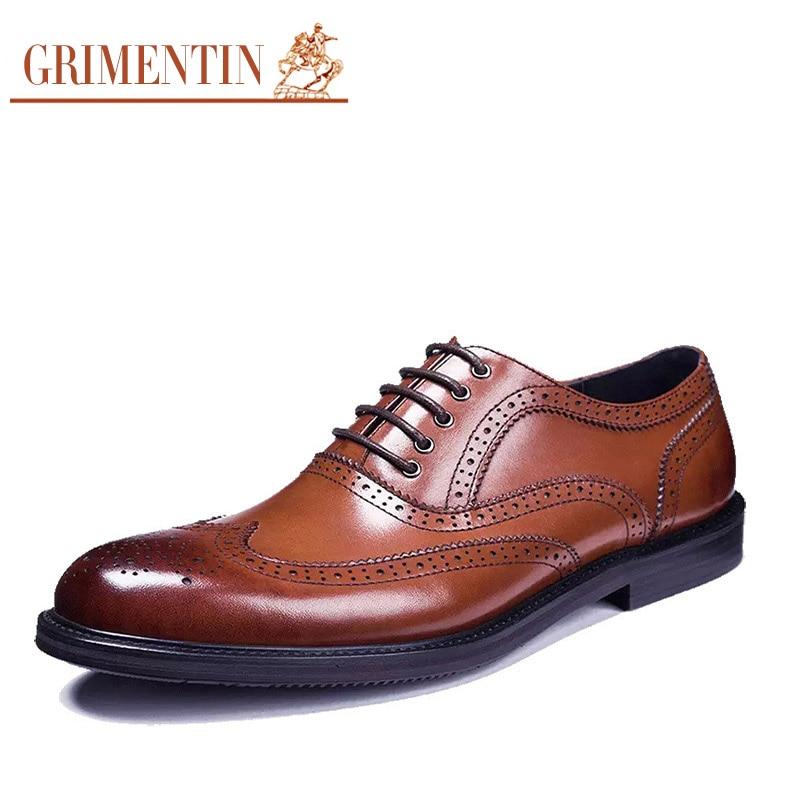 grimentin brand fashion mens dress shoes genuine