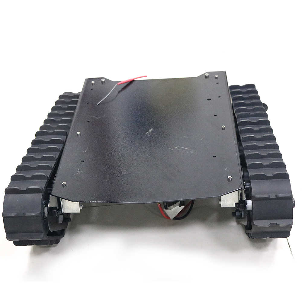 Chasis de tanque de Robot T007 de carga de 15kg con pistas de goma + Motor de gran potencia para Proyecto de Robot Arduino