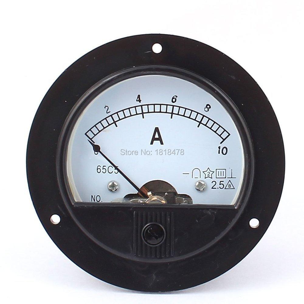 65c5 Dc 0 10a Round Panel Meter Gauge Current Analogue