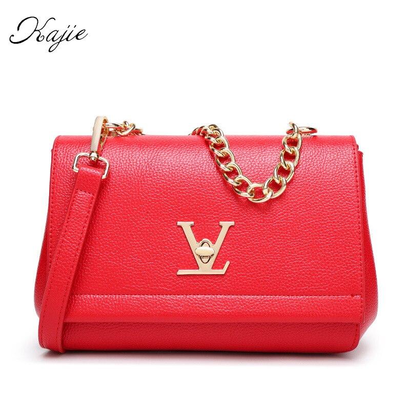 цена на 2018 Hot Flap Women Luxury PU Shoulder Bag Louis Femme Fashion Messenger Bag Ladies Golden Chain Handbag Sac A Main Mother Gift