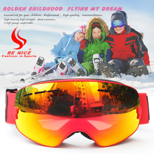 BENICE Ski Goggles,Winter Snow Sports Snowboard Goggles with Anti-fog UV Protection Lens for Kids Snowmobile Skiing Skating 4300