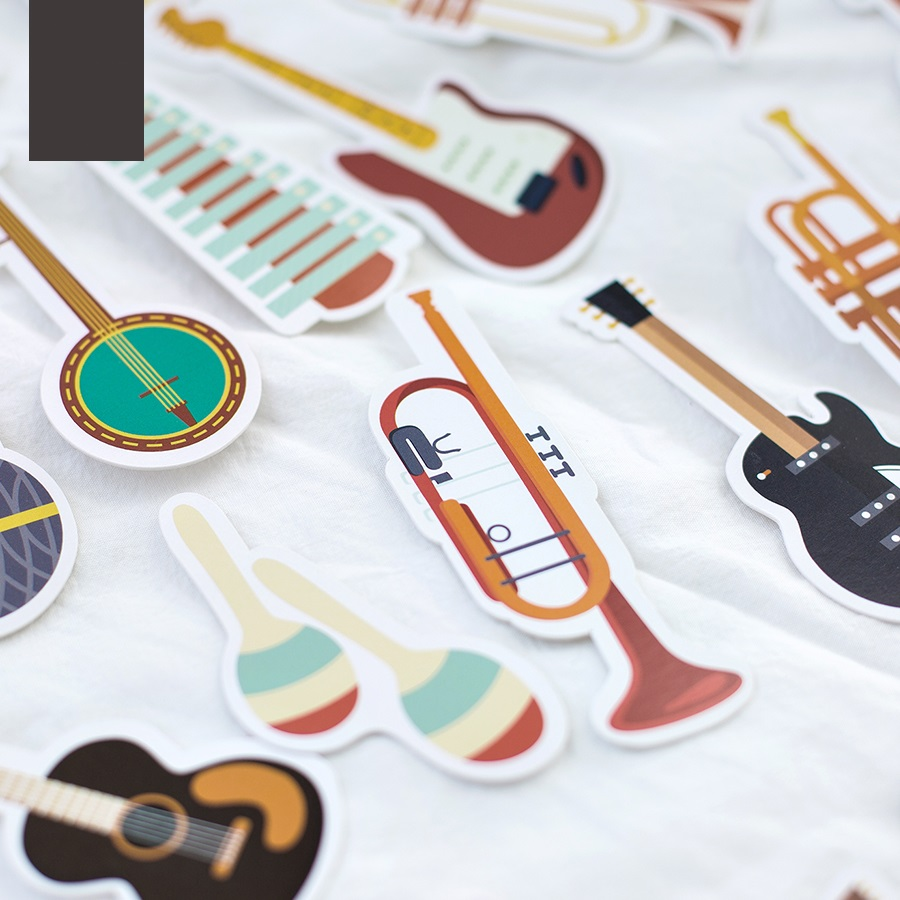 10 set/Lot musical instrument paper bookmark for book Reading note marker Stationery Office accessories School supplies F645