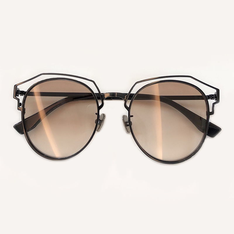 De No1 Sunglasses 2019 Runde Sunglasses Sunglasses no4 no5 Rahmen Sunglasses no2 Neue Sonnenbrille Sol Legierung Sunglasses no3 Aushöhlen Weiblichen Mode Damen Uv400 Oculos Frauen ZxwP6q