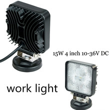 best selling work lamp 9-32V For motorcycle Trailer 4WD ATV 4X4 boat   2pcs 4inch 15W LED WORK Driving Light lamp flood Beam