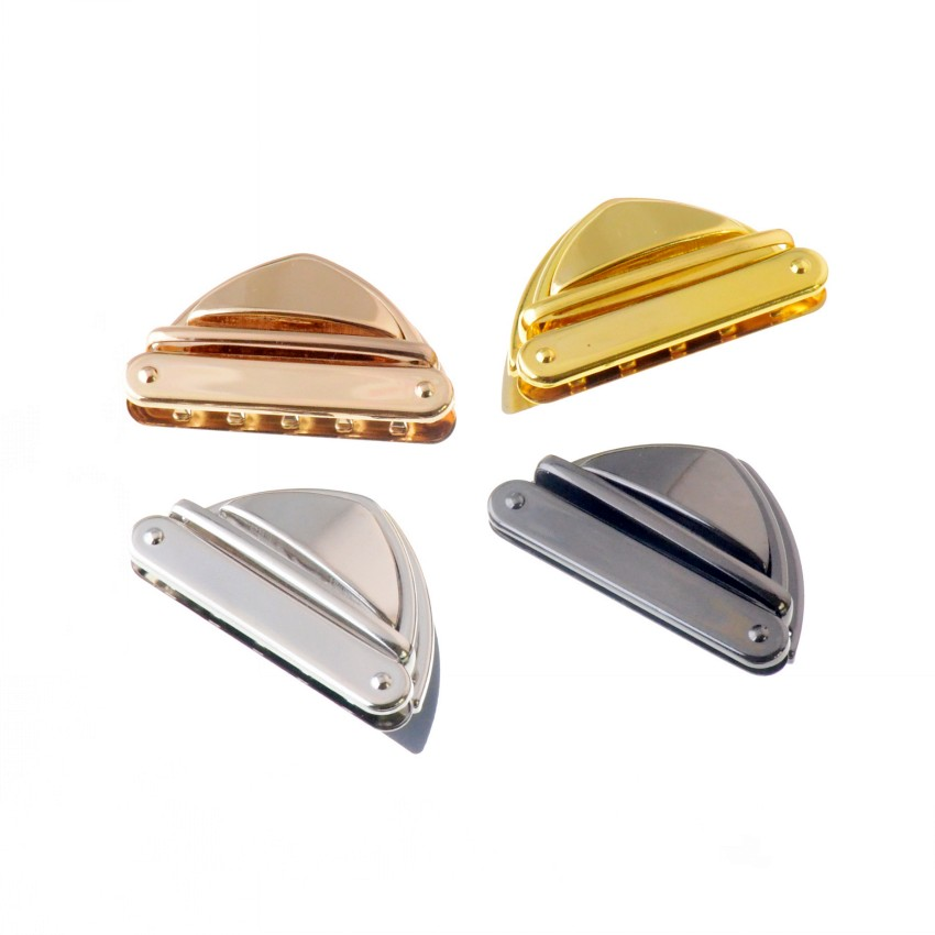 Ambitious Free Shipping-5 Sets Handbag Bag Accessories Purse Twist Turn Lock 34x52mm Waterproof Shock-Resistant And Antimagnetic 4 Color