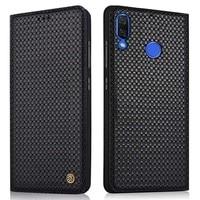 100% Genuine For Huawei Nova 3 Leather Flip back case for Nova 3 magnetic back housing capa Luxury cover