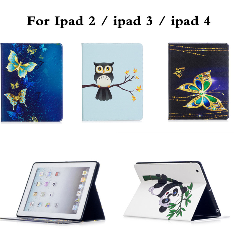 For Apple iPad 2 iPad 3 Shockproof PU Leather Case For iPad 4 Retina Cute Butterfly Designer Tablet Cover For ipad4 ipad3 ipad2 ipad 4 retina в спб