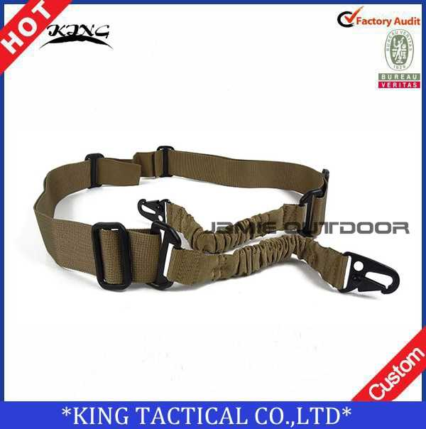 Nylon multifunctionele Gun Sling Verstelbare Twee Punt Tactical Rifle Sling Jacht Pistool Strap Rifle Sling