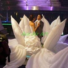 Гигантский надувной цветок для свадьбы, надувной цветок для украшения сцены