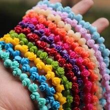 20 pçs/lote 8 milímetros Artificial coral Contas Multi-cor Rosa Cabochon Moda Beads para fazer Jóias DIY acessórios