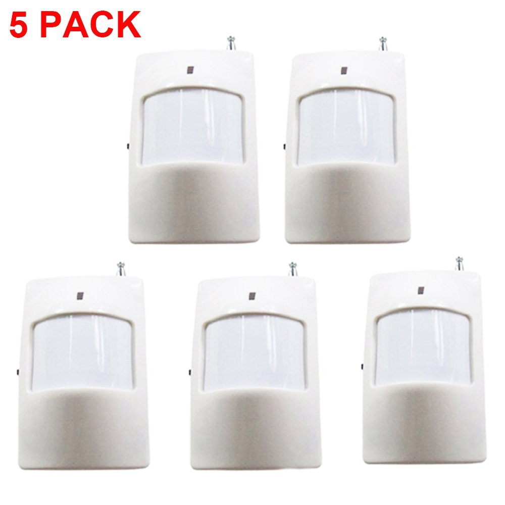(5 PCS) Wireless PIR Motion Sensor Detector for Home Security Alarm System 433 MHz DIY with Wall Mount Kit USA For Free Shipping wireless vibration break breakage glass sensor detector 433mhz for alarm system