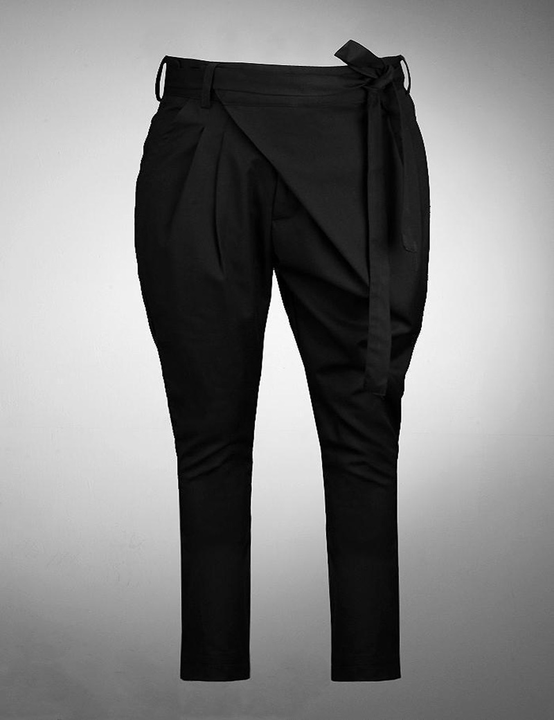 Men s Irregular Personality Black Slim Fit Harem Pants Quality British Style Fashion CasualTapered Trousers Size