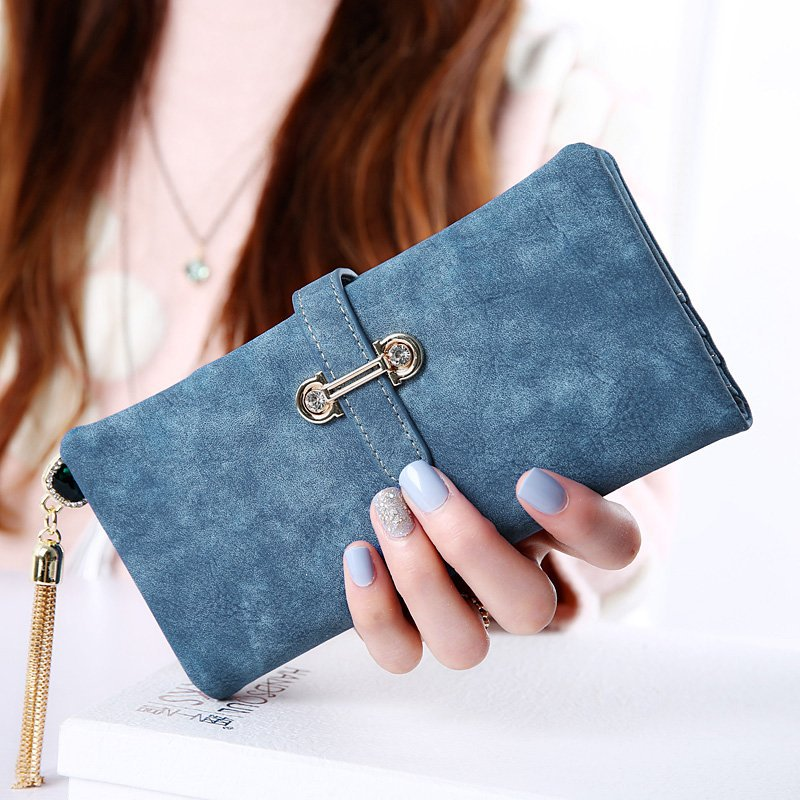 Fashion Hasp Women Long Wallet Multi Functional Solid color Female Wallets Handbag Clutch Card Holder Top Quality Portefeuille
