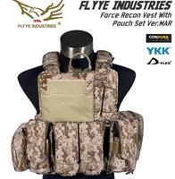 FLYYE МОЛЛ военно тактические жилет силы Recon жилет с сумкой комплект Ver. Морской VT M004