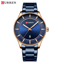 Curren Relojes Hombre Top Brand Luxury Business Waterproof Watch  Watch Men Date Quartz Clock Mens Watches Cost performance цена и фото