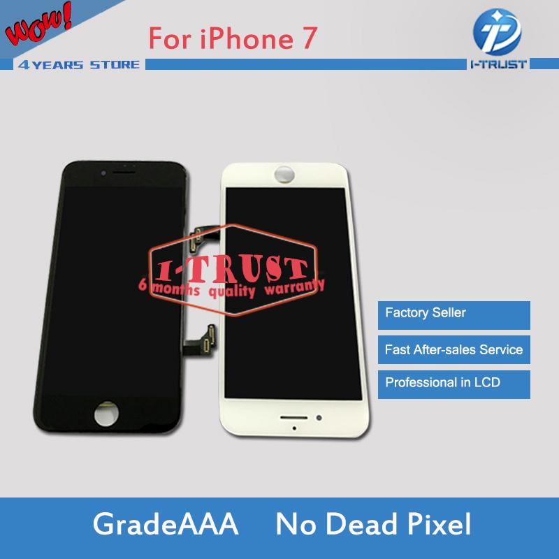 Prix pour 2 pcs 100% pas de dead pixel lcd pour iphone 7 7g affichage avec Écran Tactile Digitizer Assemblée Remplacement & Oreille Mesh & Livraison DHL