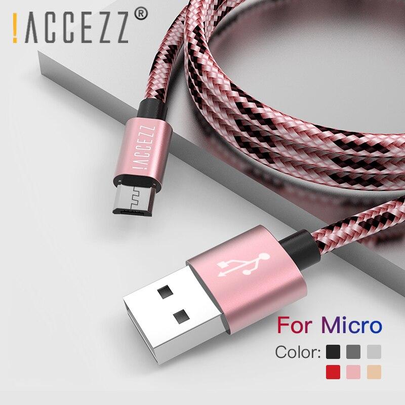! ACCEZZ Micro USB кабель для зарядки и синхронизации данных шнур для samsung Galaxy S7 S6 huawei Xiaomi Redmi 4A Android мобильный телефон быстрые кабели