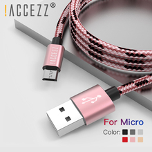 !ACCEZZ Micro USB Cable Charging Data Sync Cord For Samsung Galaxy S7 S6 Huawei Xiaomi Redmi 4A Android Mobile Phone Fast Cables