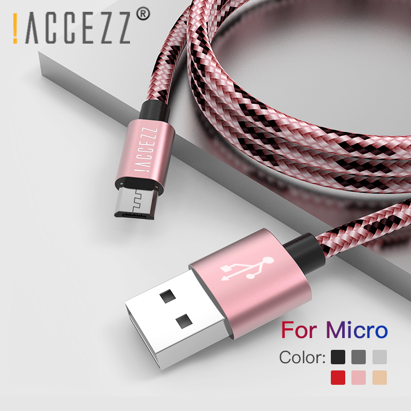 !ACCEZZ Micro USB Cable Charging Data Sync Cord For Samsung Galaxy S7 S6 Huawei Xiaomi Redmi 4A Android Mobile Phone Fast Cables|Mobile Phone Cables|   - AliExpress