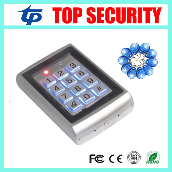 Good quality metal access controller face waterproof RFID lock system 1000 users standalone RFID card password access control good quality standalone single door access control system metal card reader 8000 users surface waterproof rfid access controller