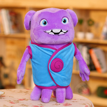 small new plush blue clothes aliens toy lovely home laughing alien doll gift about 35cm