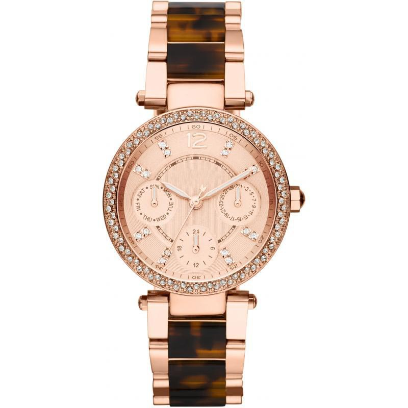MK5841 Ladies Tortoise and Rose Gold Parker Watch on