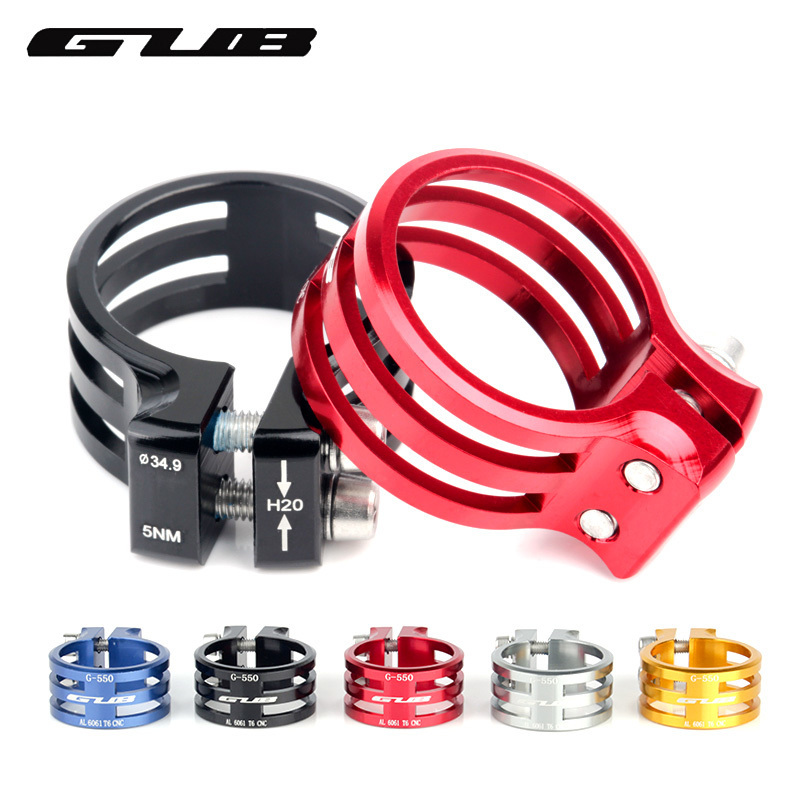 GUB Bicycle Seat Post Clamp Aluminum Mountain Bike Seatpost Clamps Cycling Clamping Carbon Frame 31.8/34.9/37mm