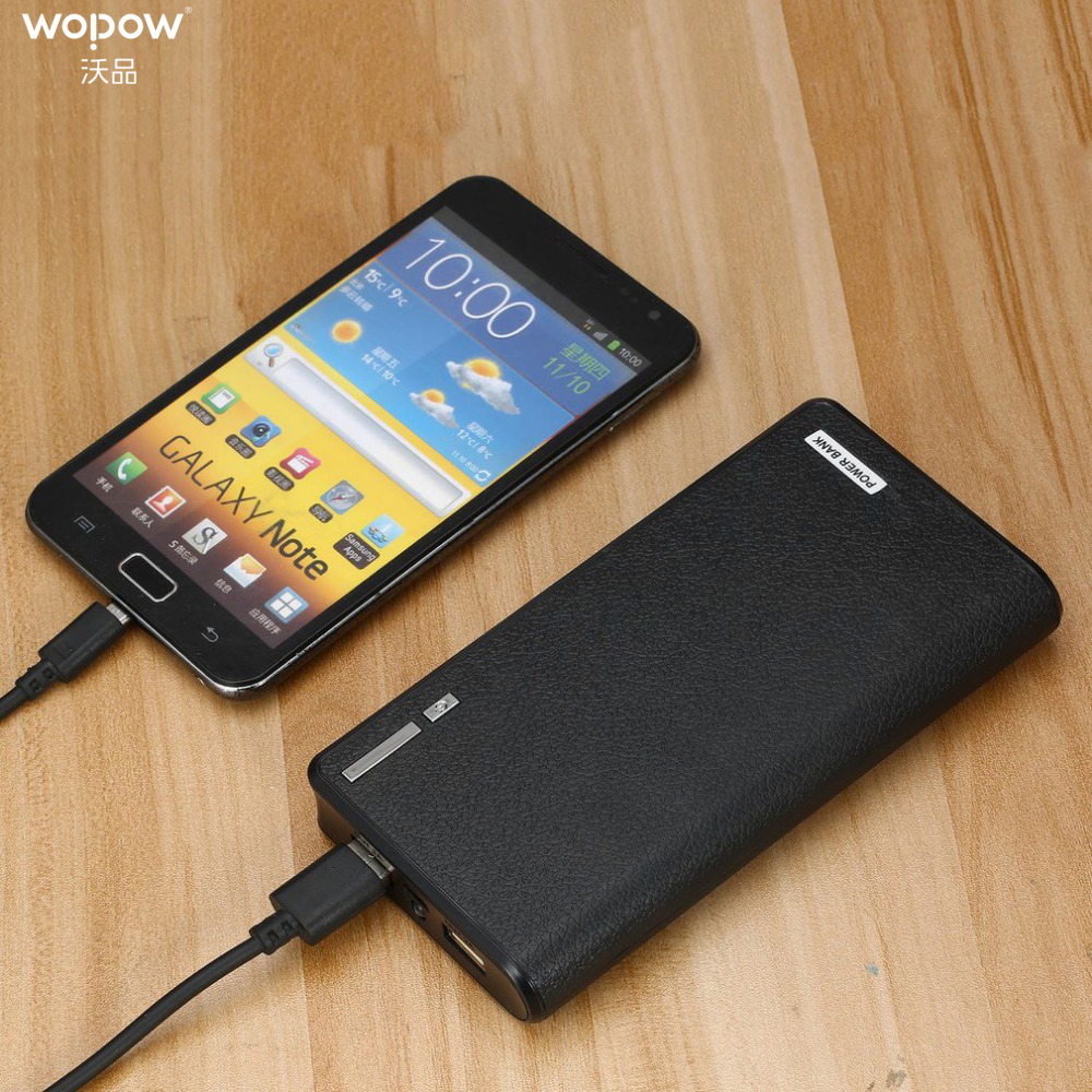 Wopow Power Bank 10000mAh LED Dual USB External <font><b>Battery</b></font> Charger for <font><b>Cellphone</b></font> Easy to Take and Charge Powerbank <font><b>battery</b></font> power